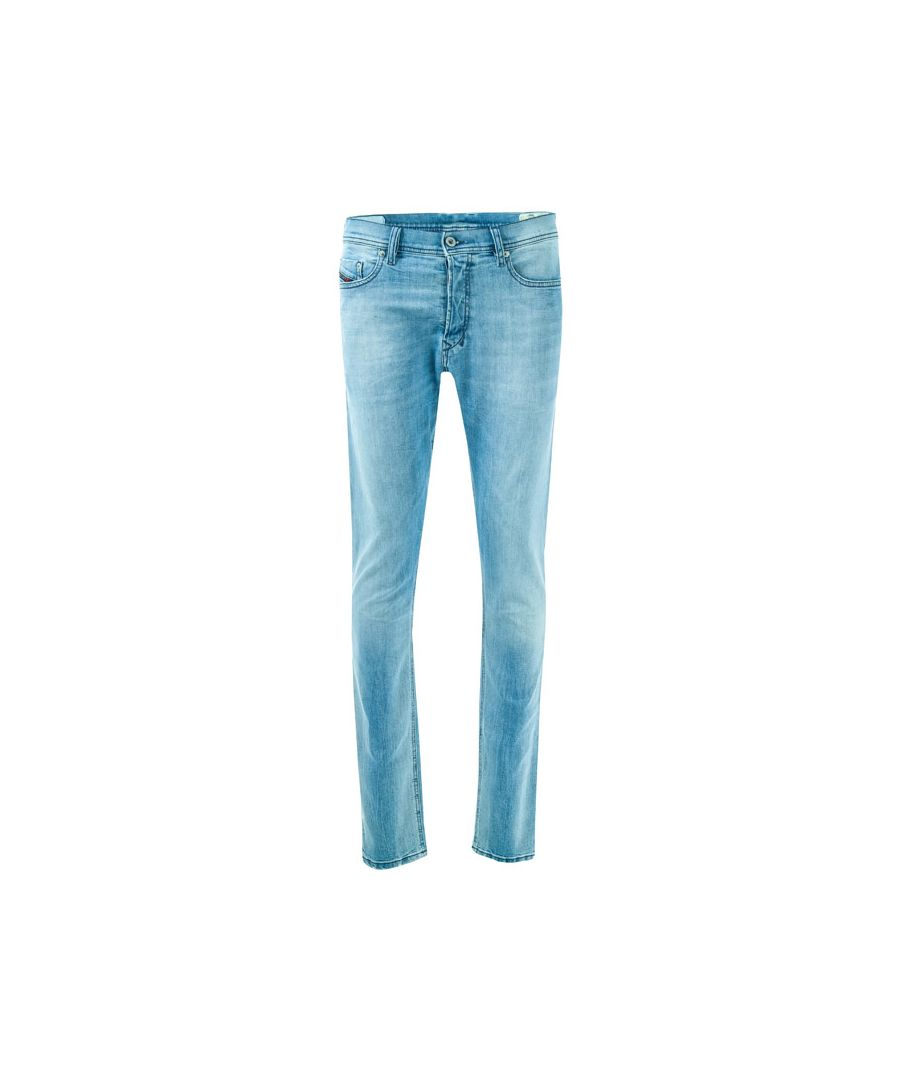 Image for Men's Diesel Tepphar Slim Carrot Fit Jeans in Denim