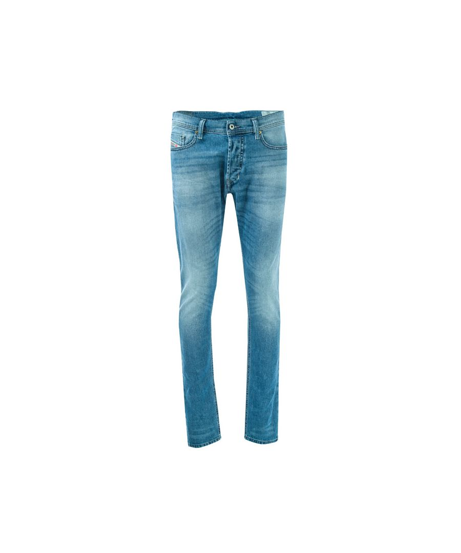 Image for Men's Diesel Tepphar Slim Carrot Leg Jeans in Light Blue