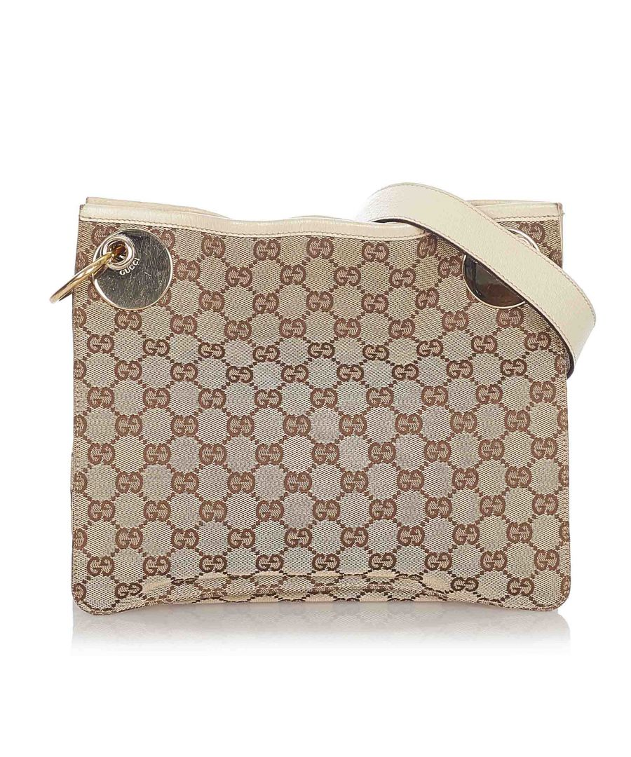 Image for Vintage Gucci GG Canvas Eclipse Crossbody Bag Brown