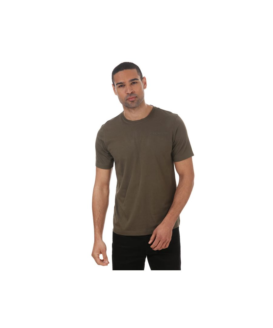 Image for Men's Calvin Klein Short Sleeve T-Shirt Green Sin Green
