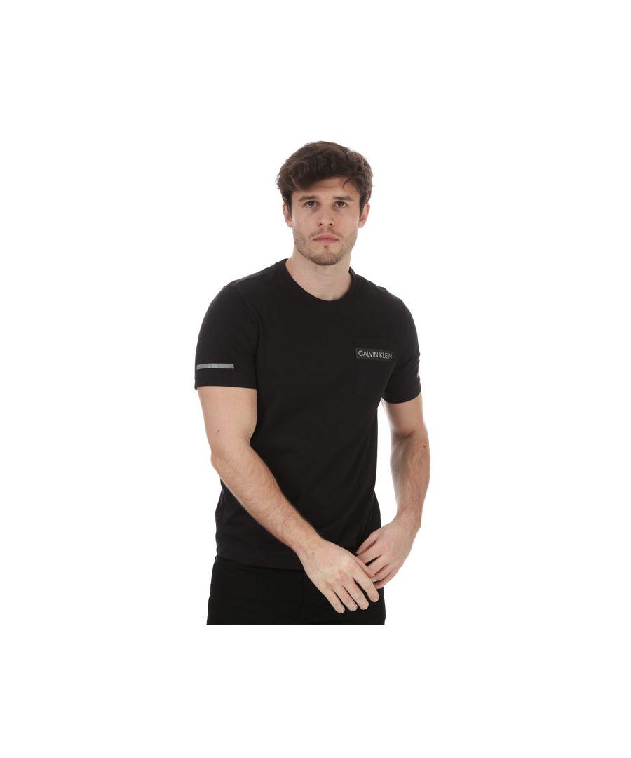Image for Men's Calvin Klein Short Sleeve T-Shirt Black Sin Black
