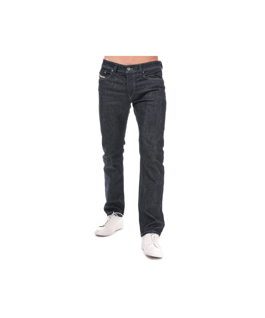 Image for Men's Diesel Waykee Straight Leg Jeans in Blue