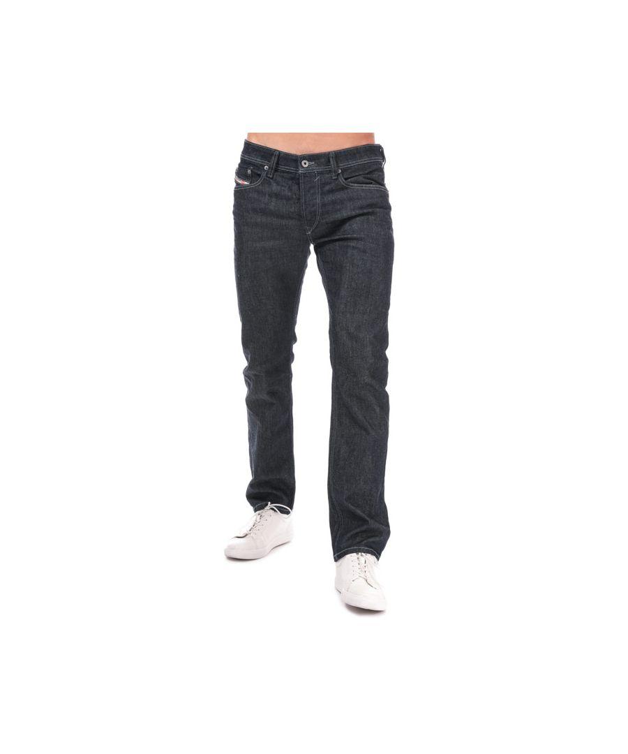 Image for Men's Diesel Waykee Straight Leg Jeans in Blue