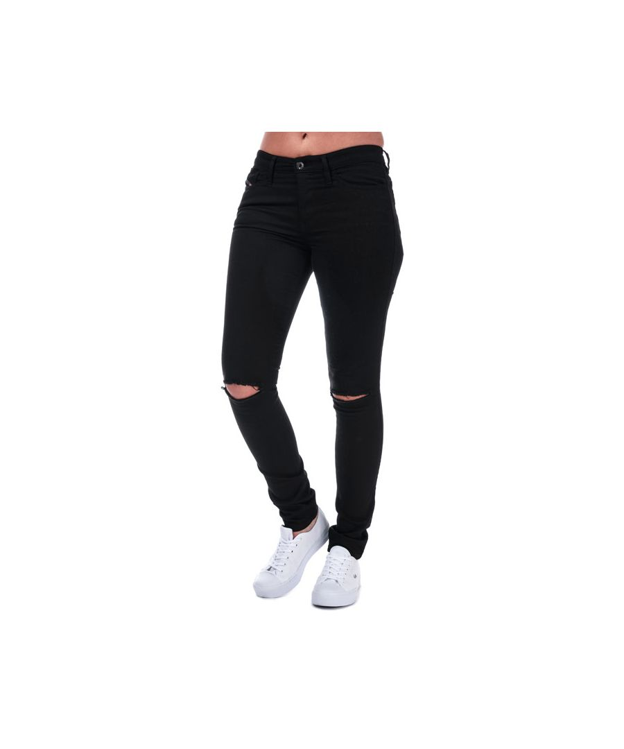 Image for Women's Diesel Skinzee Super Skinny Jeans in Black