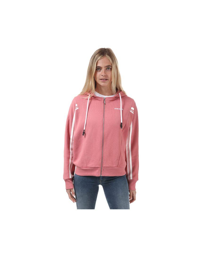 Image for Women's Diesel Uflt-Vertix Zip Hoodie Rose 4In Rose