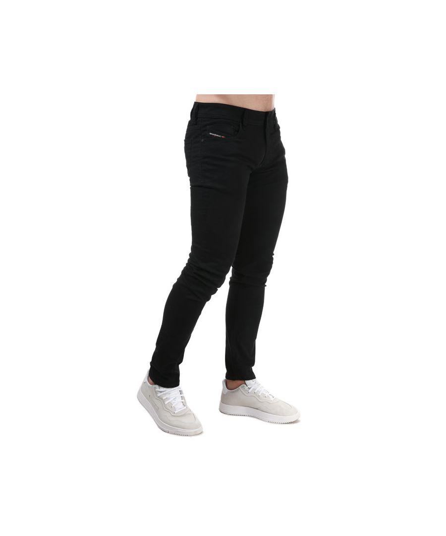 Image for Men's Diesel Sleenker Skinny Jeans Black 30Sin Black