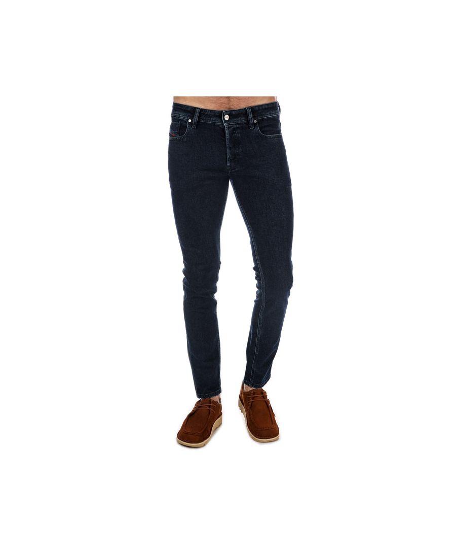Image for Men's Diesel Sleenker Skinny Jeans Blue 34Rin Blue