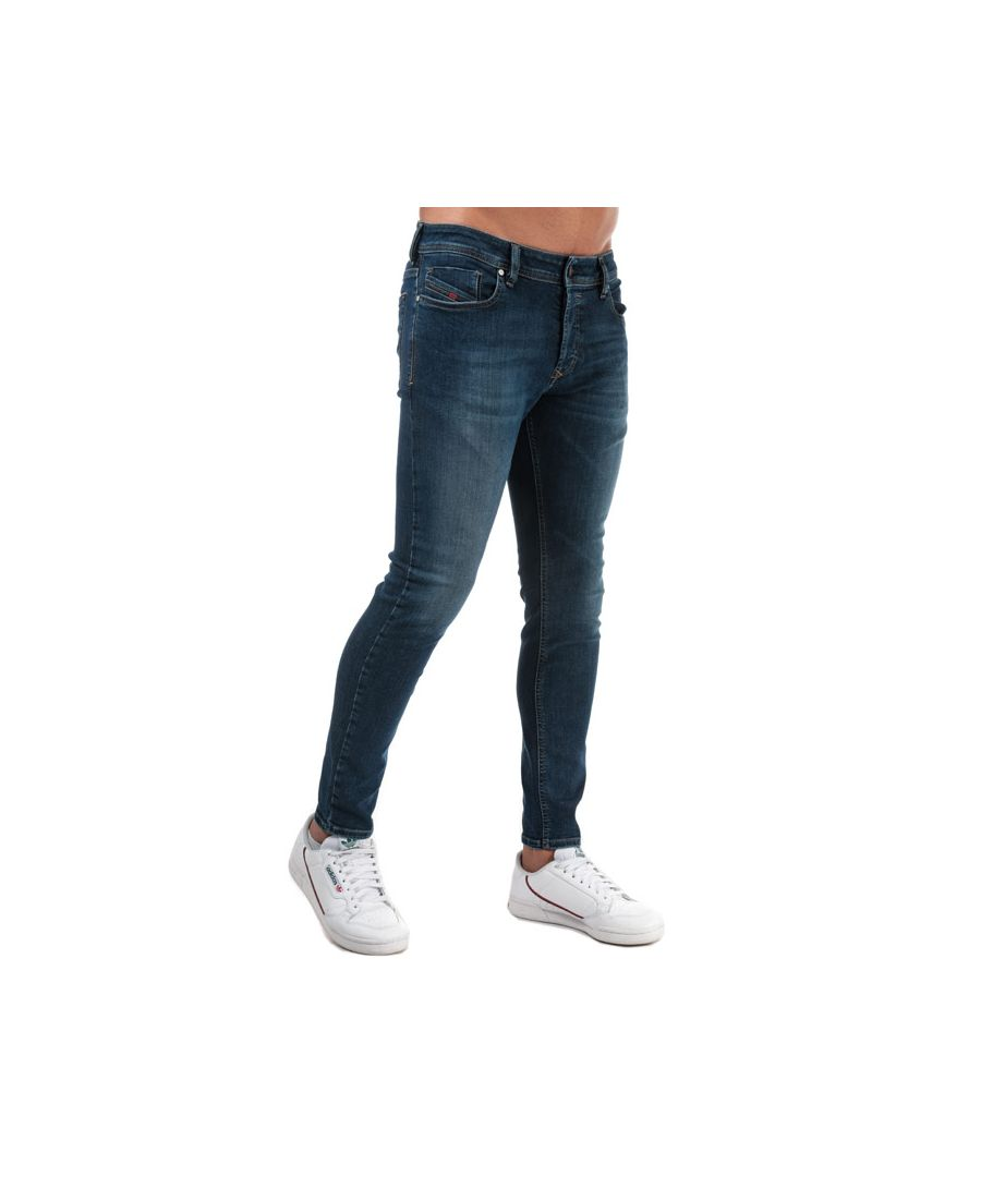 Image for Men's Diesel Sleenker Skinny Fit Jeans in Denim