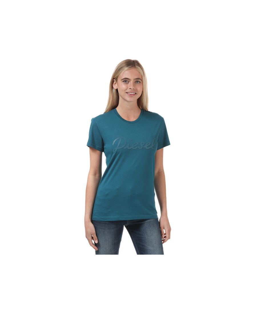 Image for Women's Diesel Sully T-Shirt Petrol 4in Petrol
