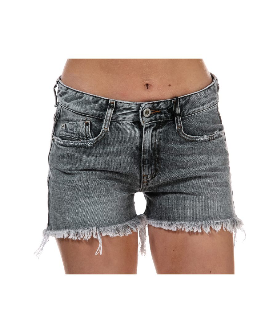 Image for Women's Diesel De-Rifty Denim Shorts Grey 24 inchin Grey