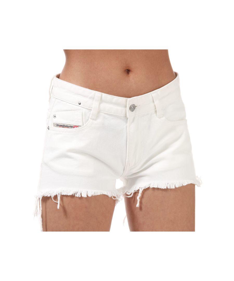 Image for Women's Diesel De-Rifty Denim Shorts White 24 inchin White