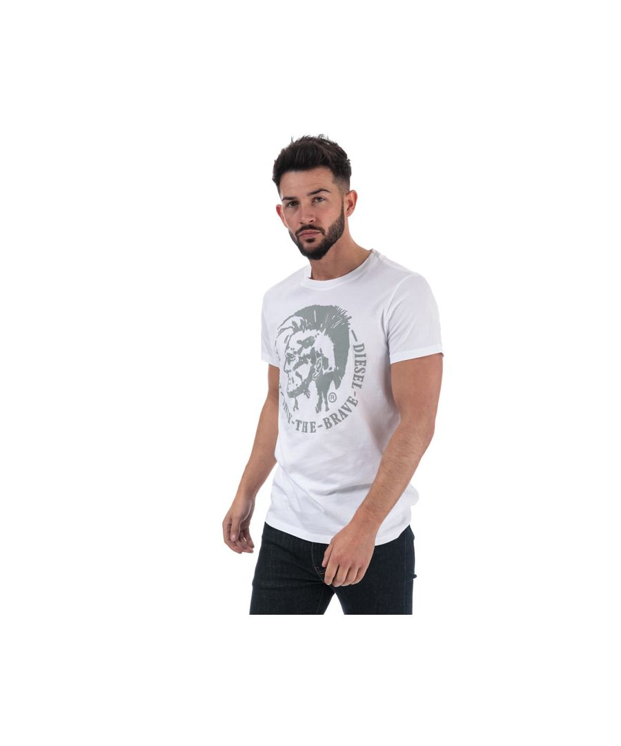 Image for Men's Diesel T-Diego-FO T-Shirt in White