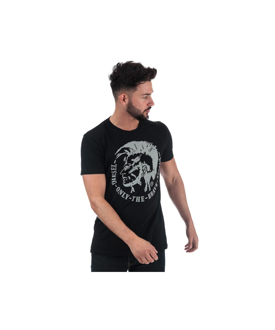 Image for Men's Diesel T-Diego-FO T-Shirt in Black