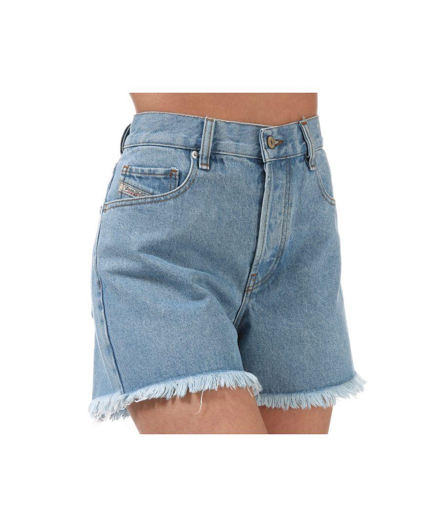 Image for Women's Diesel De-Lowy Denim Shorts Denim 24 inchin Denim