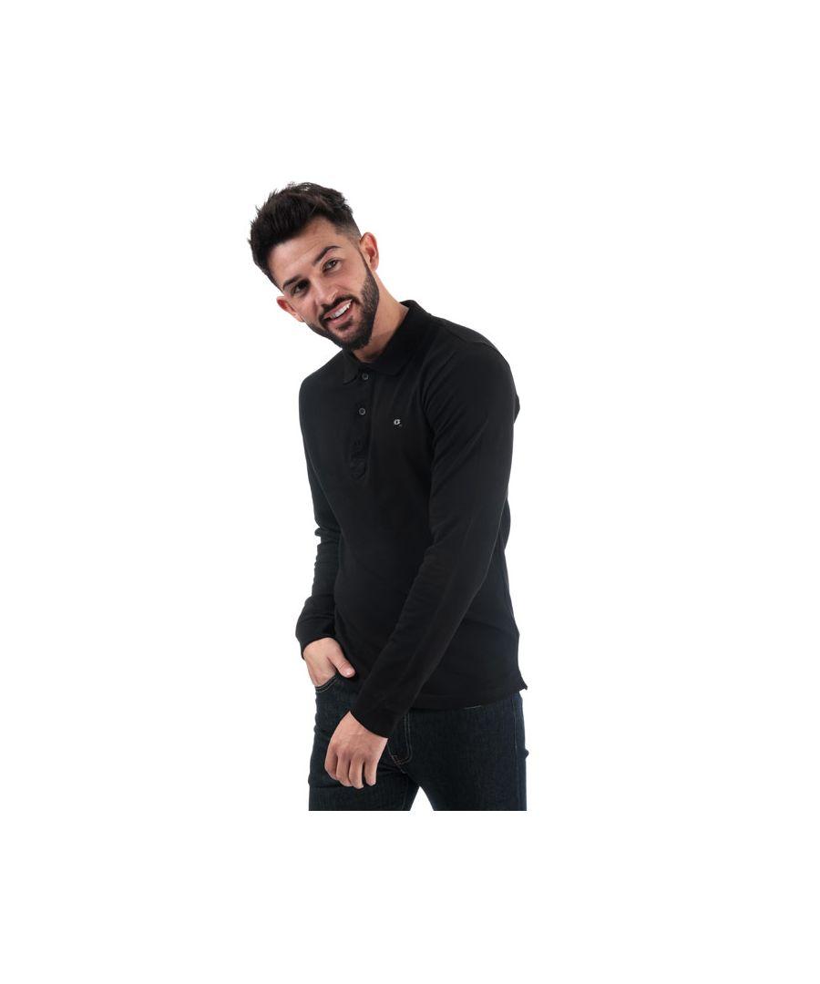 Image for Men's Diesel T-Kalar Long A Rags Polo in Black