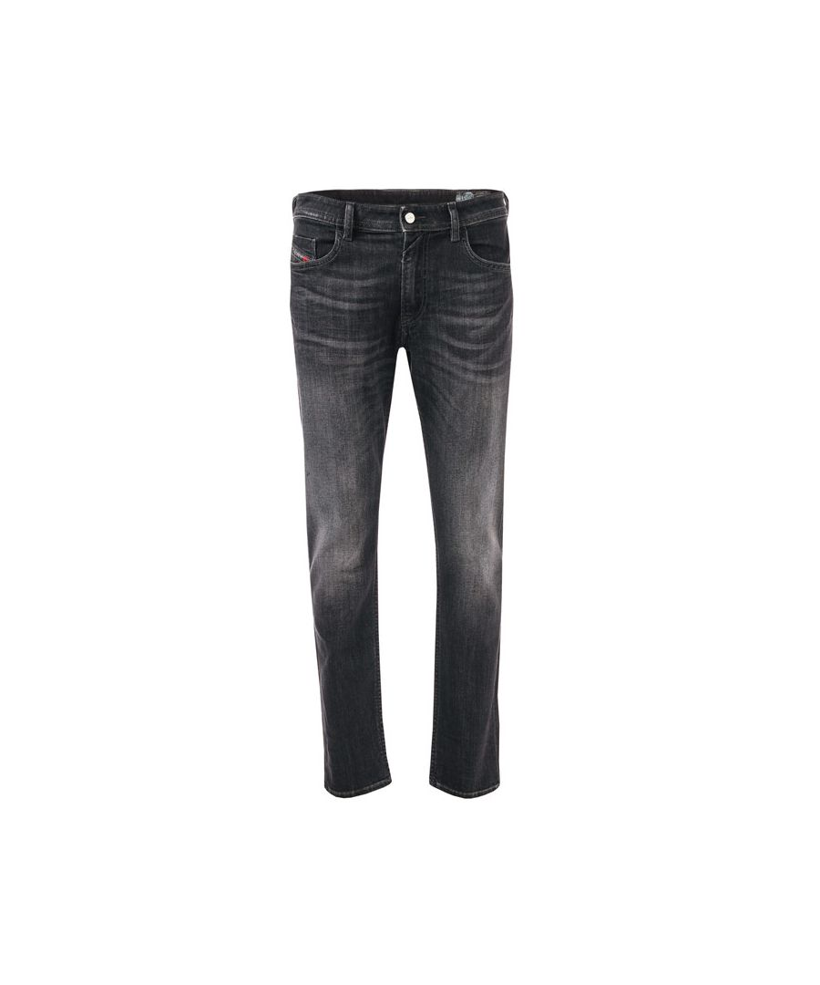 Image for Men's Diesel Thommer Slim Fit Jeans in Black