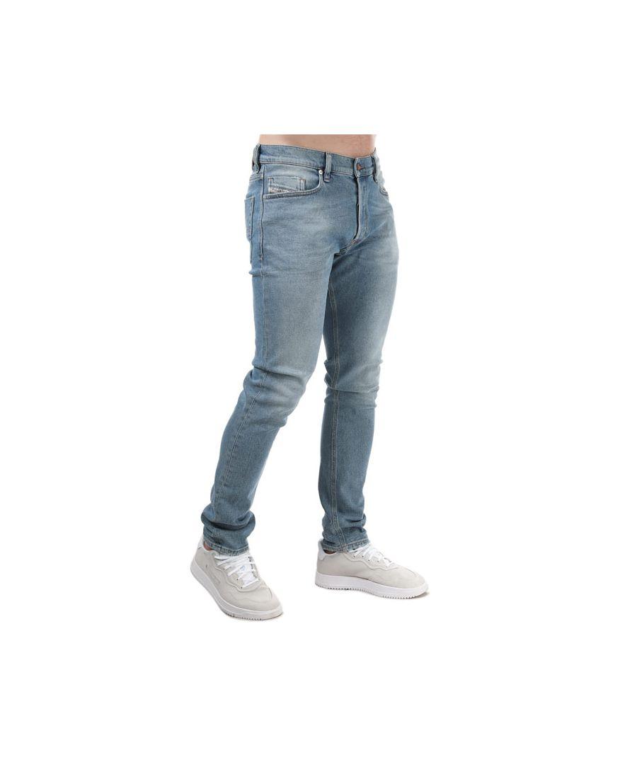 Image for Men's Diesel Tepphar-X Slim-Carrot Jeans Light Blue
