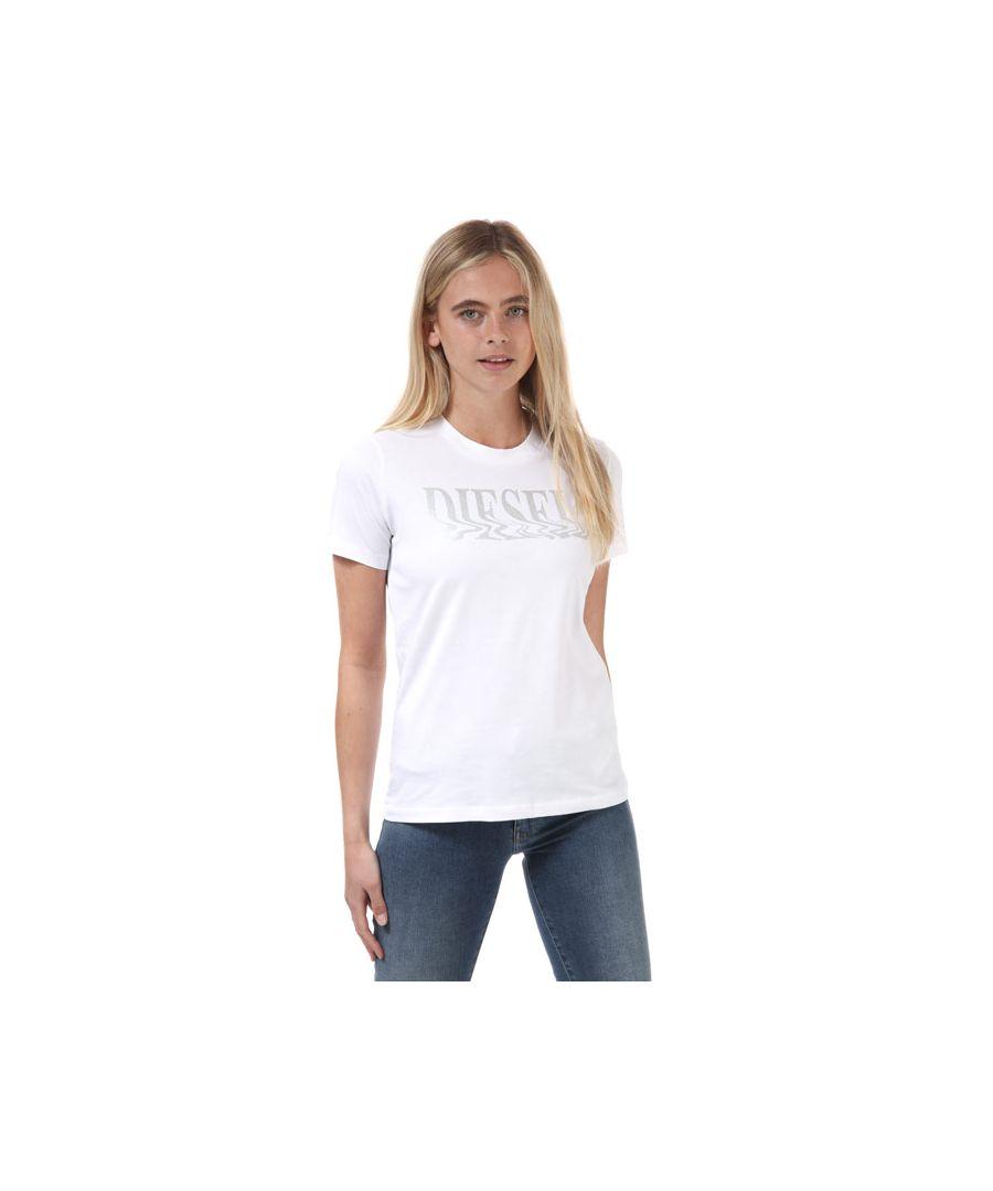 Image for Women's Diesel Sily T-Shirt White 4in White