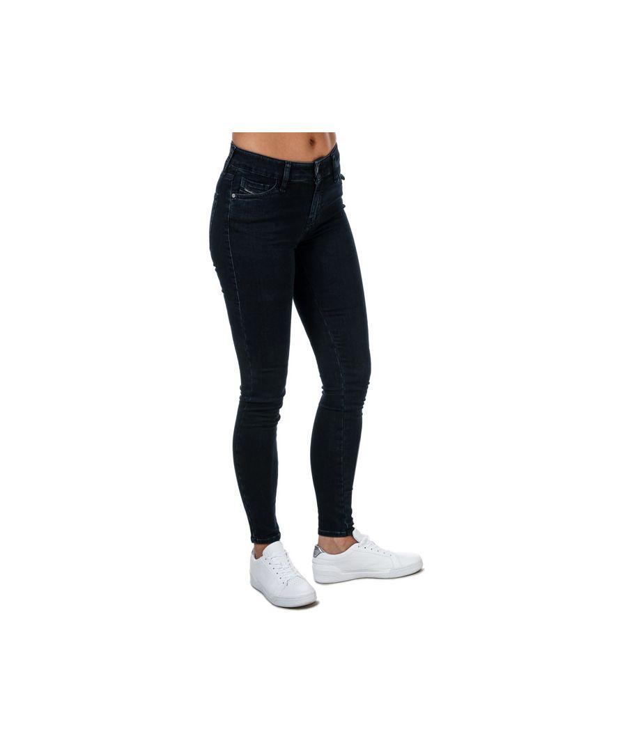 Image for Women's Diesel Slandy Super Slim-Skinny Jeans Dark Blue 24Rin Dark Blue