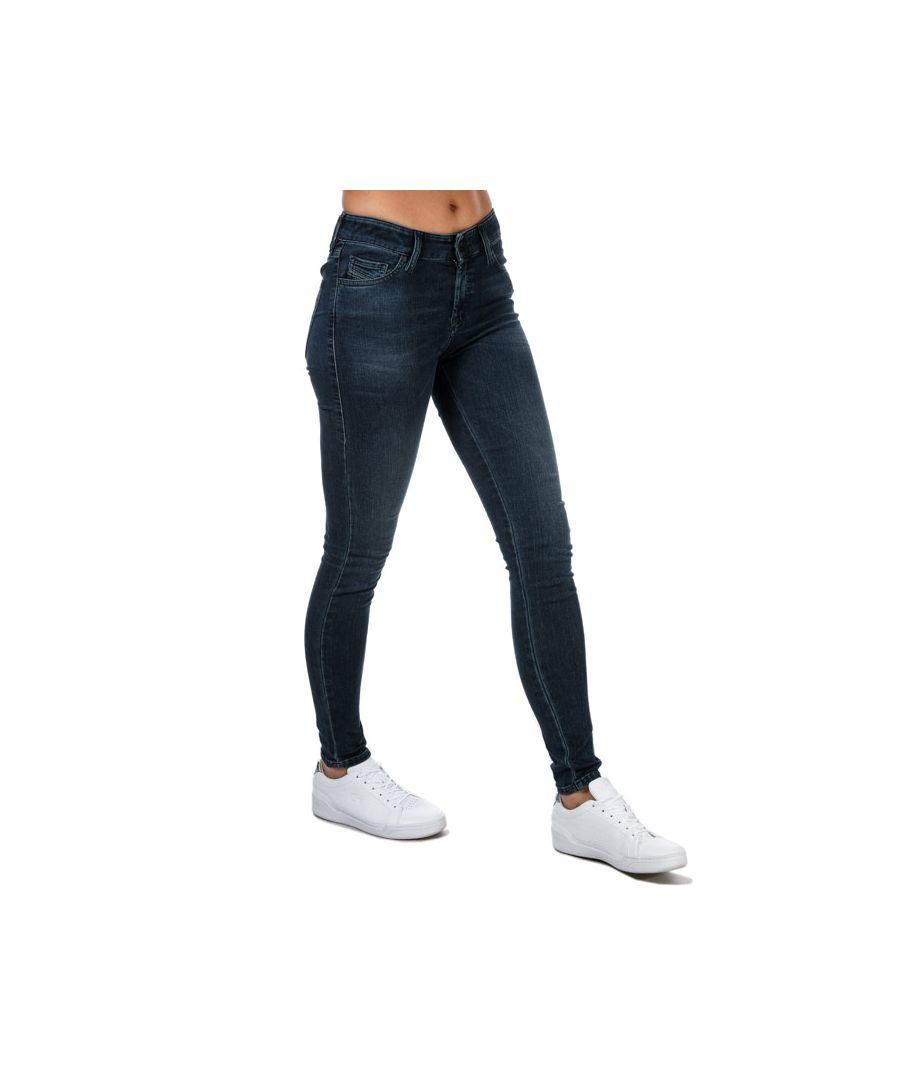 Image for Women's Diesel Slandy Super-Skinny Jeans Denim 24Rin Denim