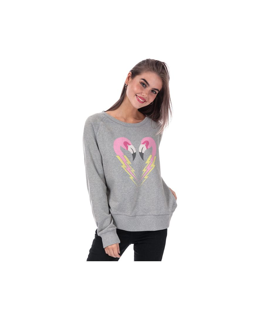 Image for Women's Diesel Sven Crew Sweatshirt in Grey Marl