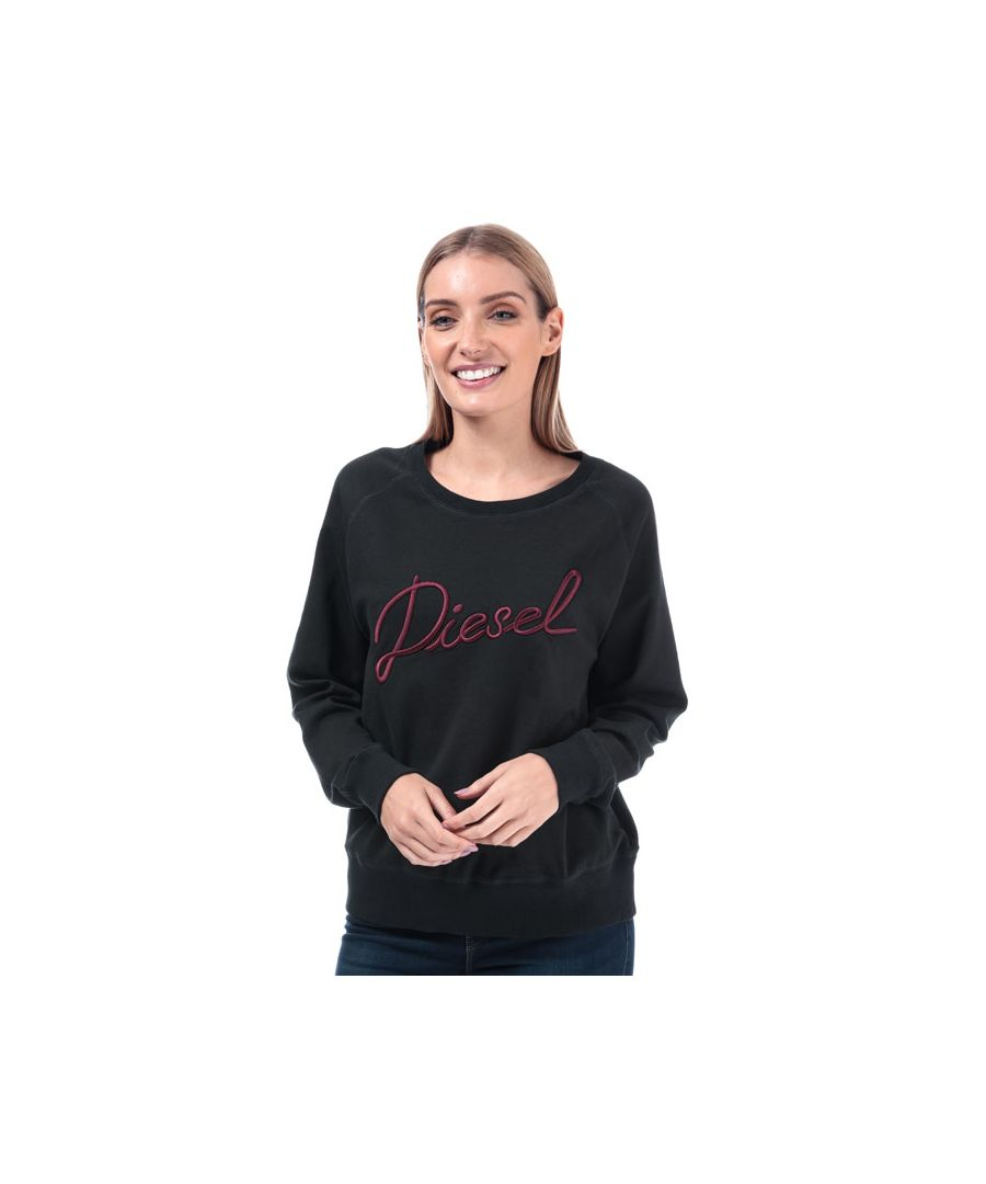 Image for Women's Diesel Sven Crew Sweatshirt in Black