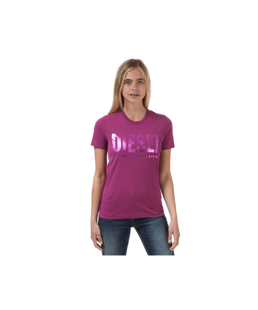 Image for Women's Diesel Sily T-Shirt Pink 4in Pink
