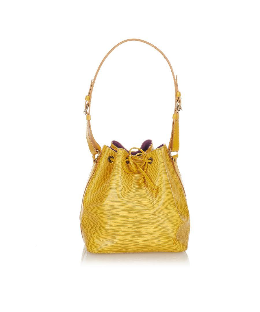Image for Vintage Louis Vuitton Epi Petit Noe Yellow