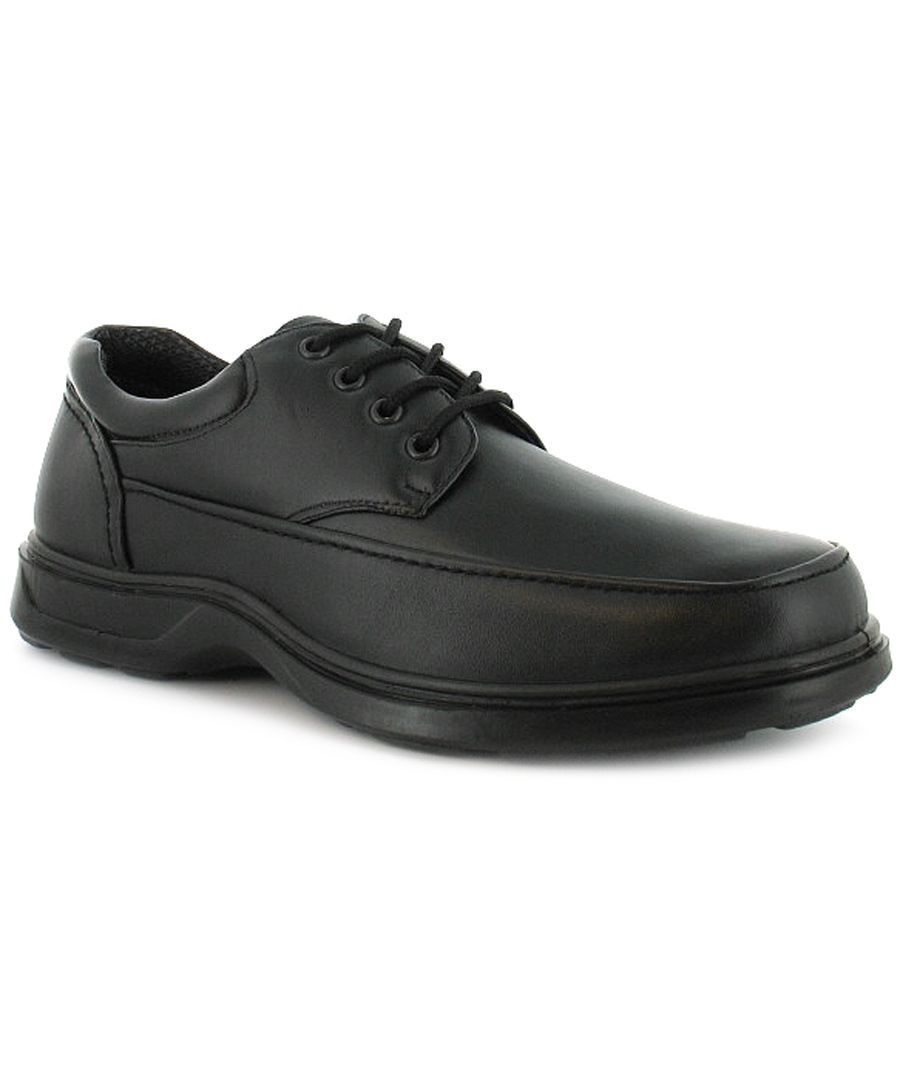 Image for Mens/Gents Black Lace Up Comfort Fit Casual Shoes. Wider Fitting.
