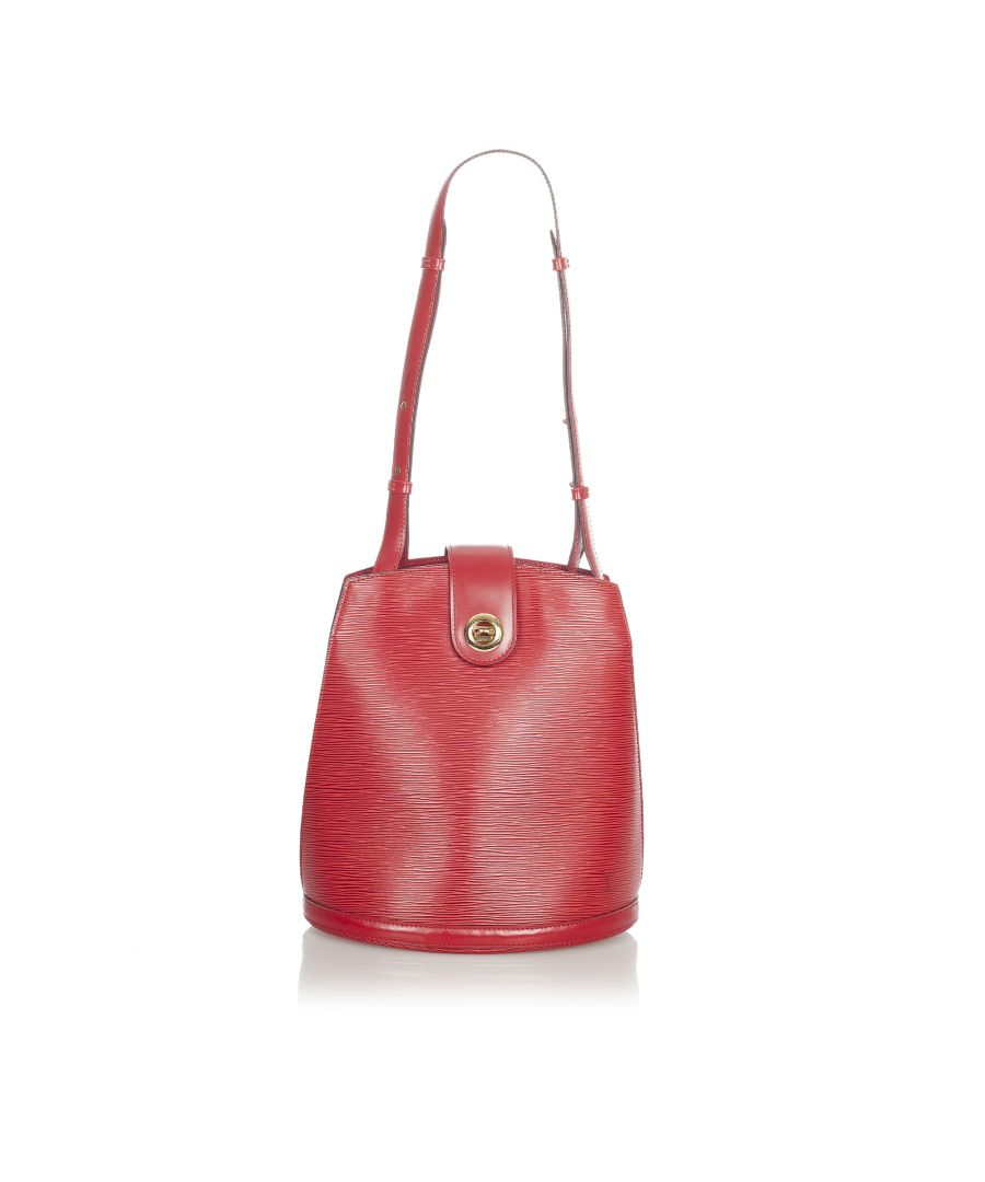 Image for Vintage Louis Vuitton Epi Cluny Red