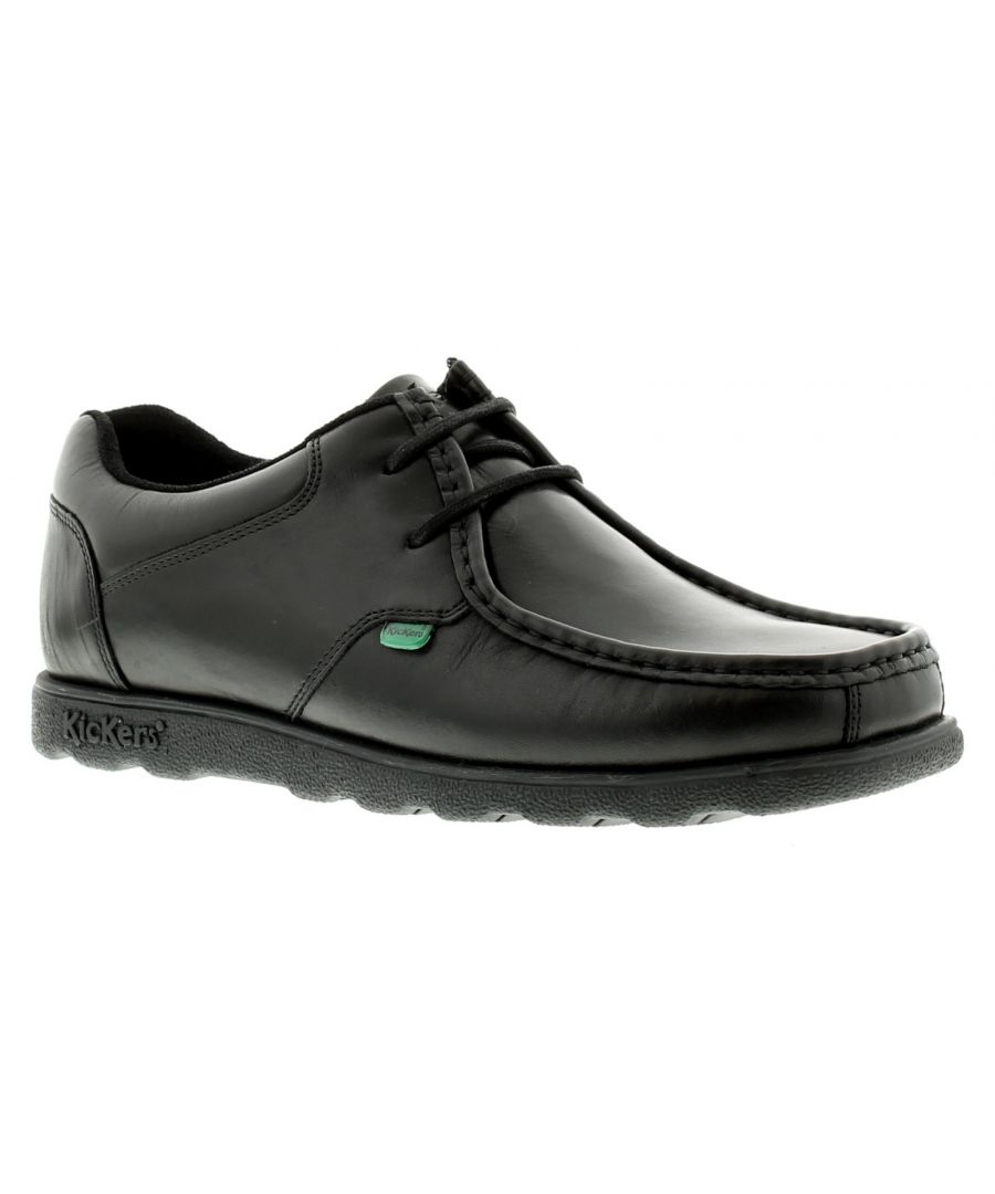 Image for New Mens/Gents Black Kickers Fragma Lace Up Casual Shoes.