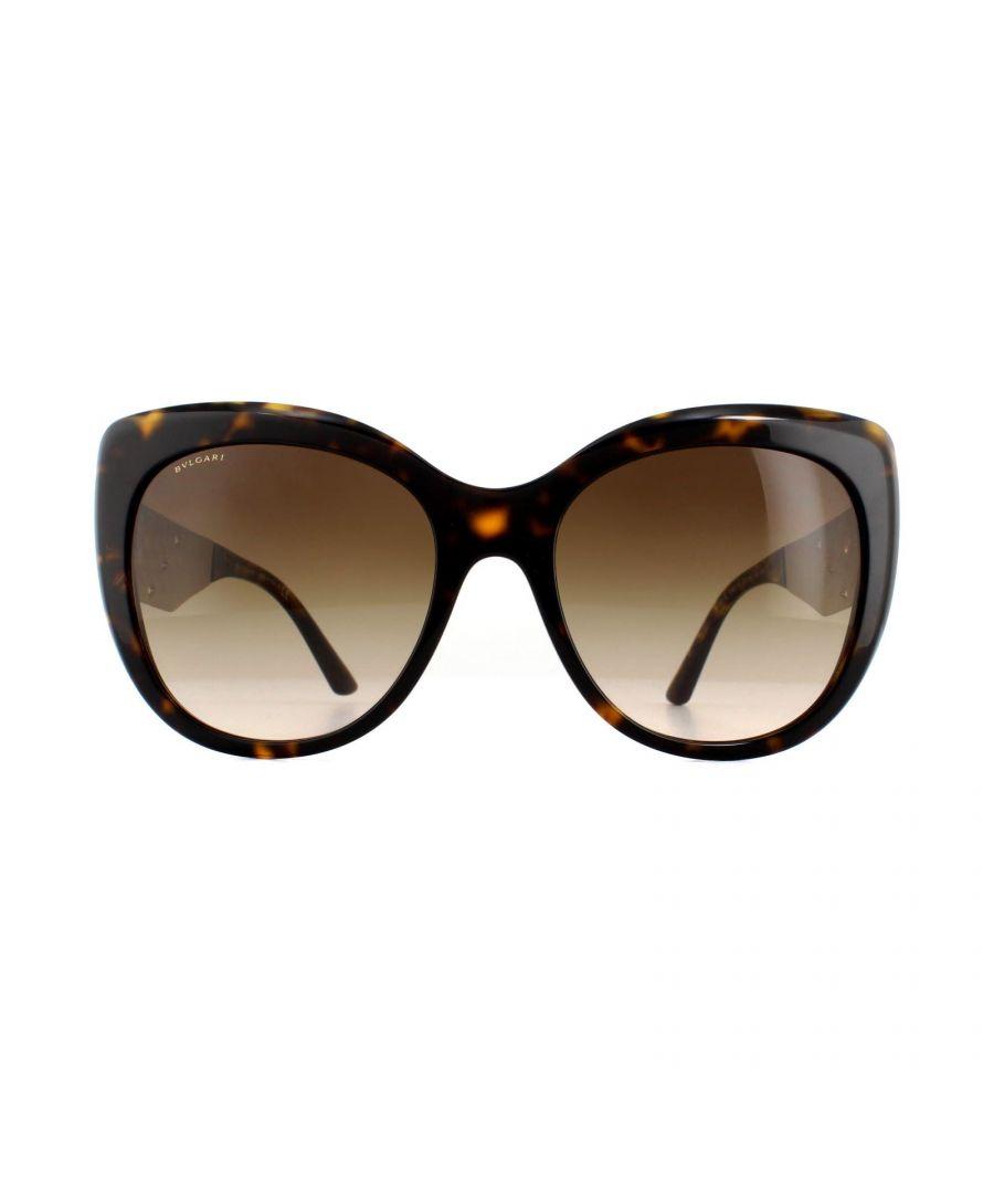 Image for Bvlgari Sunglasses BV8198B 544113 Dark Havana Gold Brown Gradient