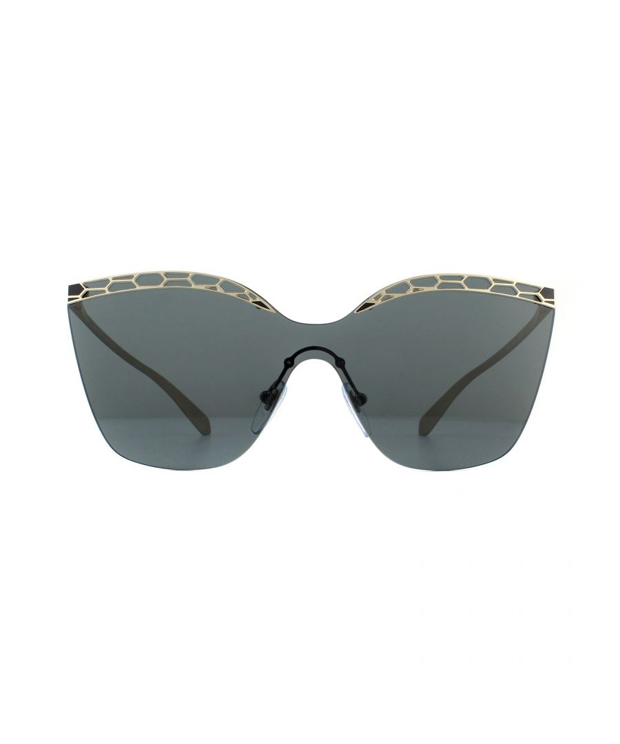 Image for Bvlgari Sunglasses BV6093 278/87 Pale Gold and Black Grey