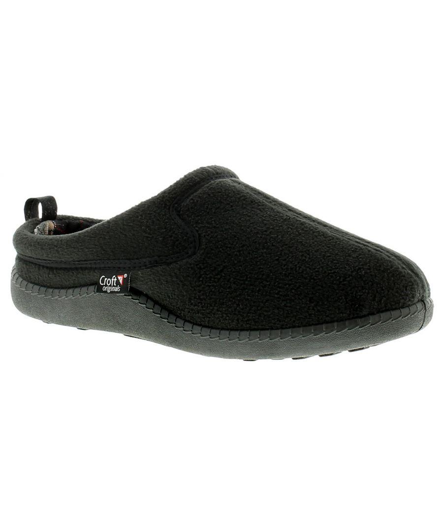 Image for Mens Fleece Mule Slippers.