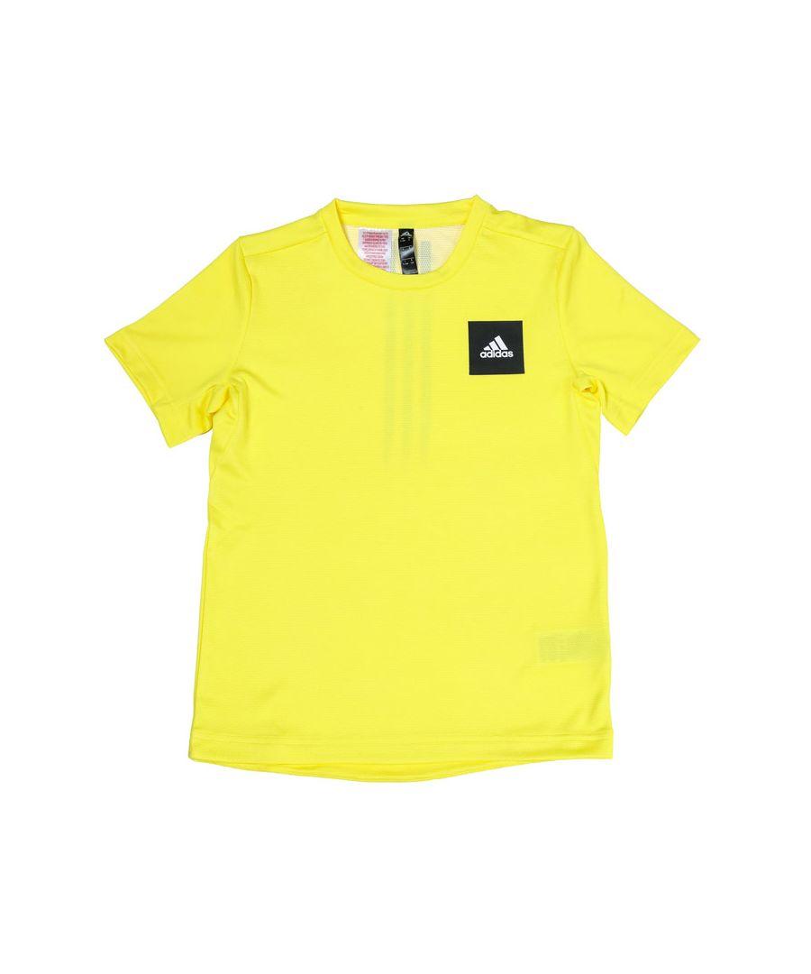 Image for Boy's adidas Junior AEROREADY T-Shirt in Yellow