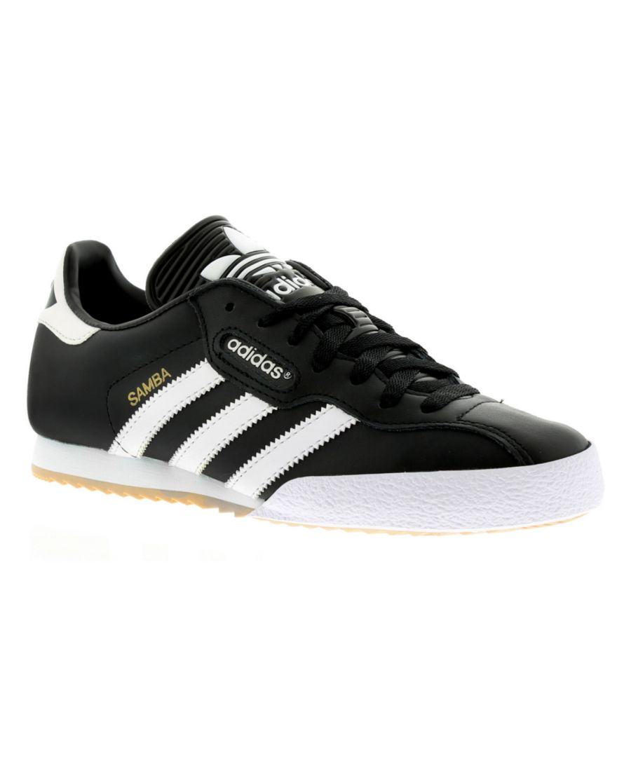Image for Adidas Samba Super Black Textile Leather Indoor Soccer Shoes Trainers