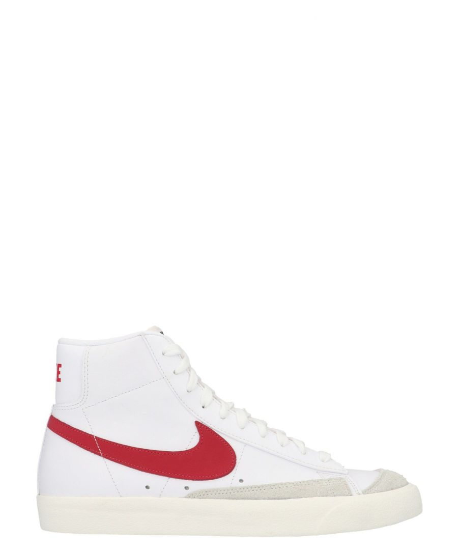 Image for NIKE MEN'S BQ6806102 WHITE LEATHER HI TOP SNEAKERS