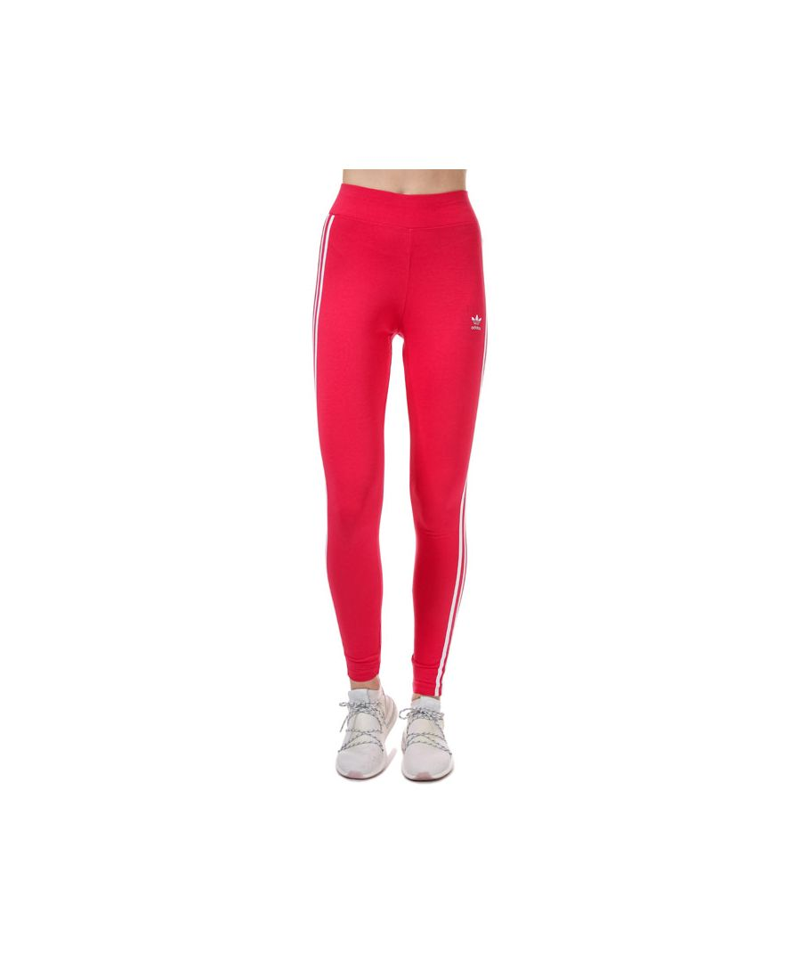Image for Women's adidas Originals Adicolor 3-Stripes Leggings in Pink white