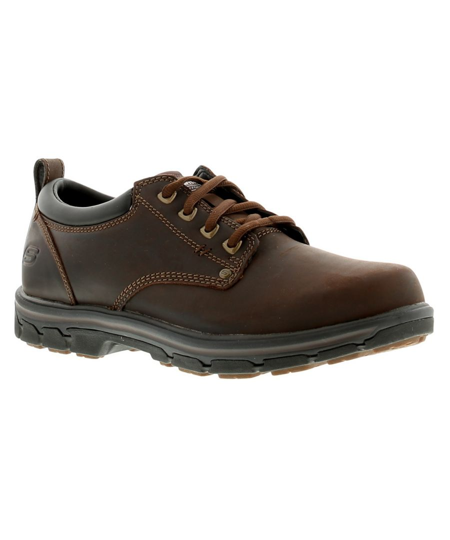 Image for Skechers Segment Rilar Mens Leather Casual Shoes Brown