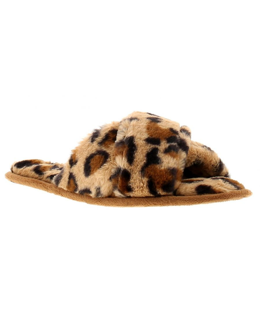 Image for Kisses callisto womens ladies slip on slippers brown
