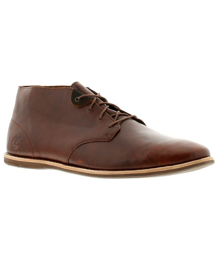 Image for Timberland revenia chukka leather mens formal boots brown