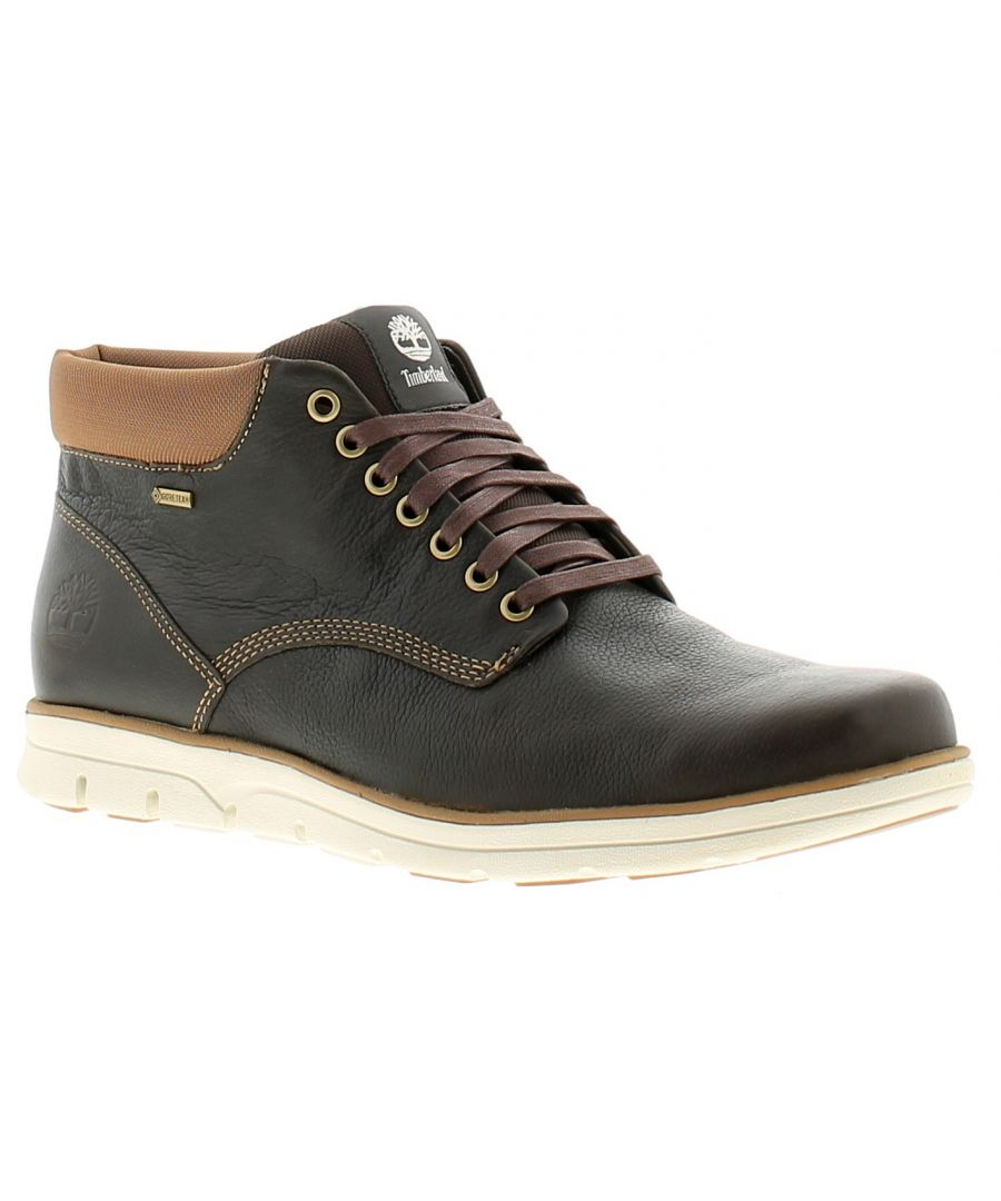 Image for Timberland bradstreet leather mens formal boots brown