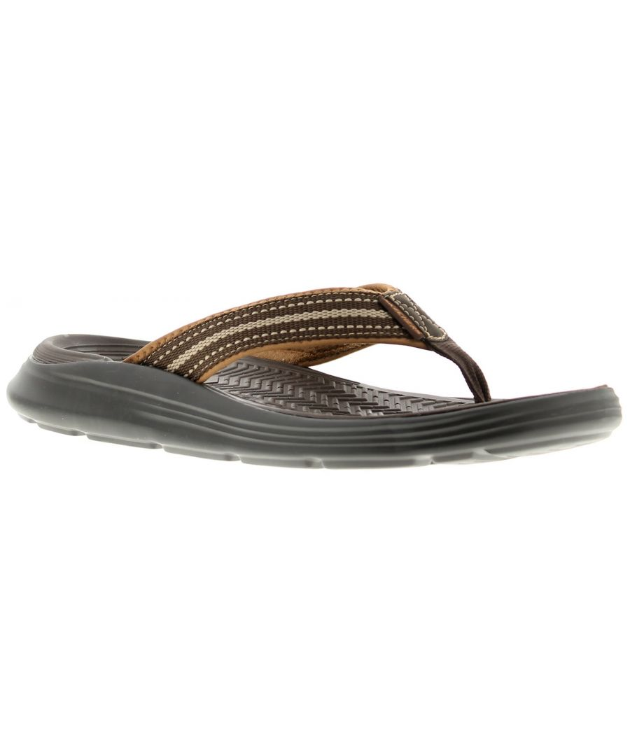 Image for Skechers Sargo Mens Beach Sandals Chocolate Memory Foam