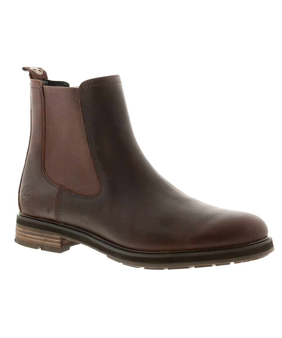 Image for Timberland windbucks chelsea leather mens boots brown