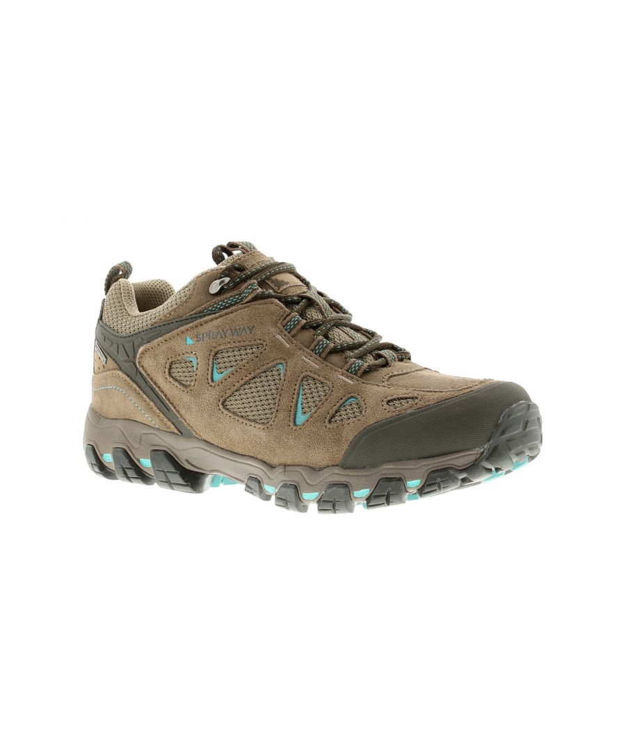 Image for Ladies Sprayway Iona Low Hydrodry Hiker Close Fitting Suede Hiker For Rough Terrain Featuring A Sued