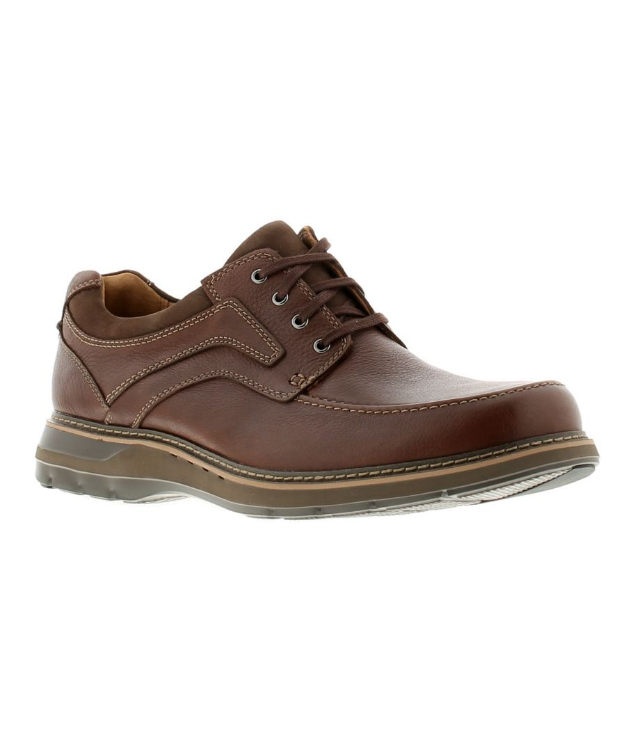 Image for Clarks un ramble lace leather mens formal shoes brown