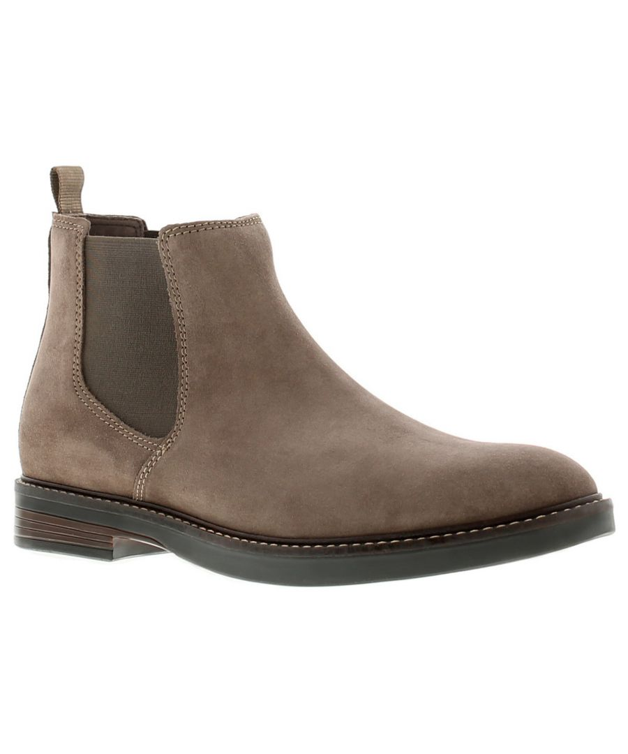 Image for Clarks paulson up leather mens boots brown