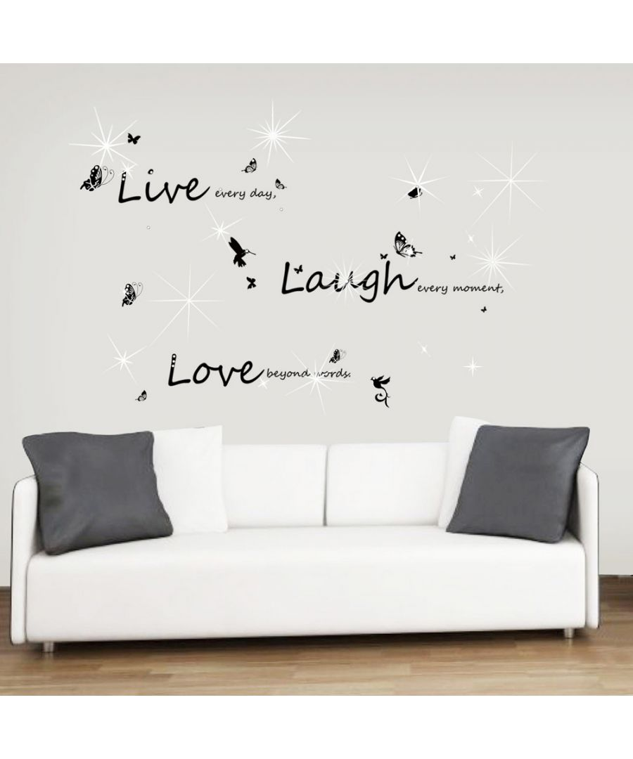 Image for Swarovski Live Laugh Love Wall Sticker Set