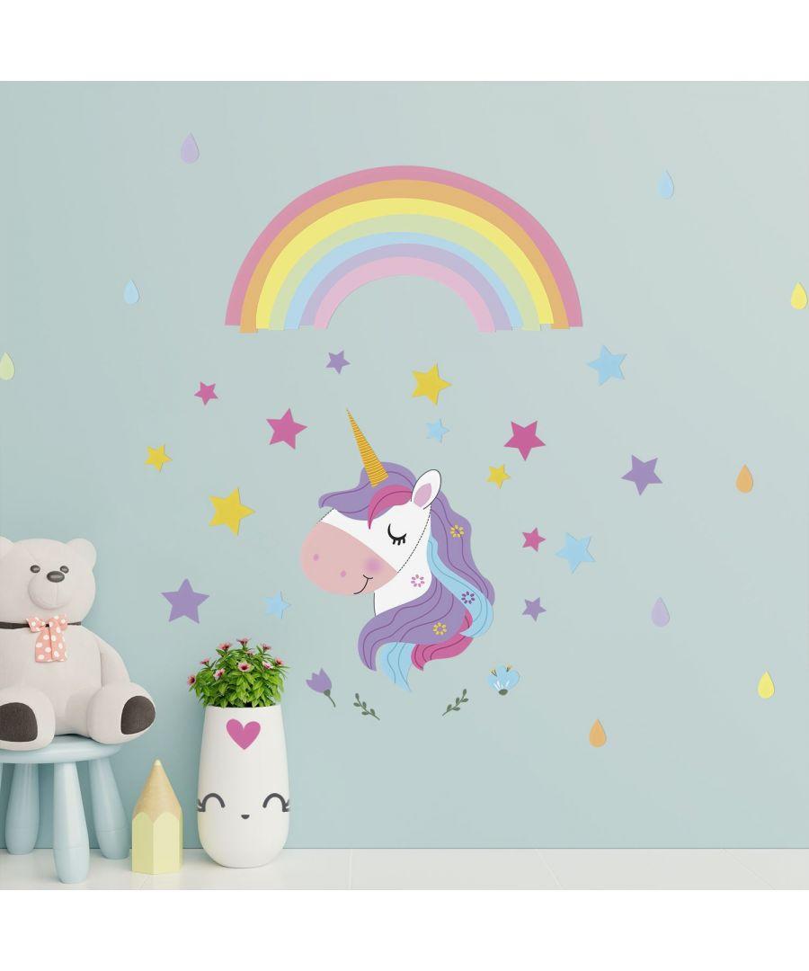 Image for Wall Art - Magical Unicorn Rainbow