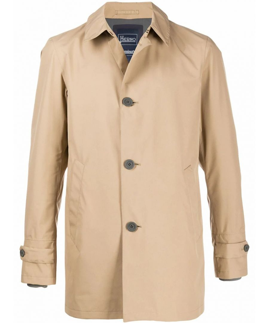 Image for HERNO MEN'S IM039UL111012150 BEIGE POLYESTER TRENCH COAT